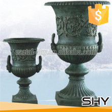 cast iron garden flower pot ornaments metal flower stand style
