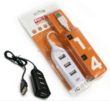 Compact design 4 in 1 USB 2.0 port hub perfect for laptops pads