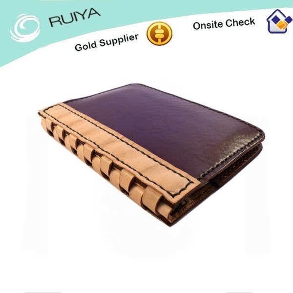 Vegetable tanned leather diary notebook with pen holder