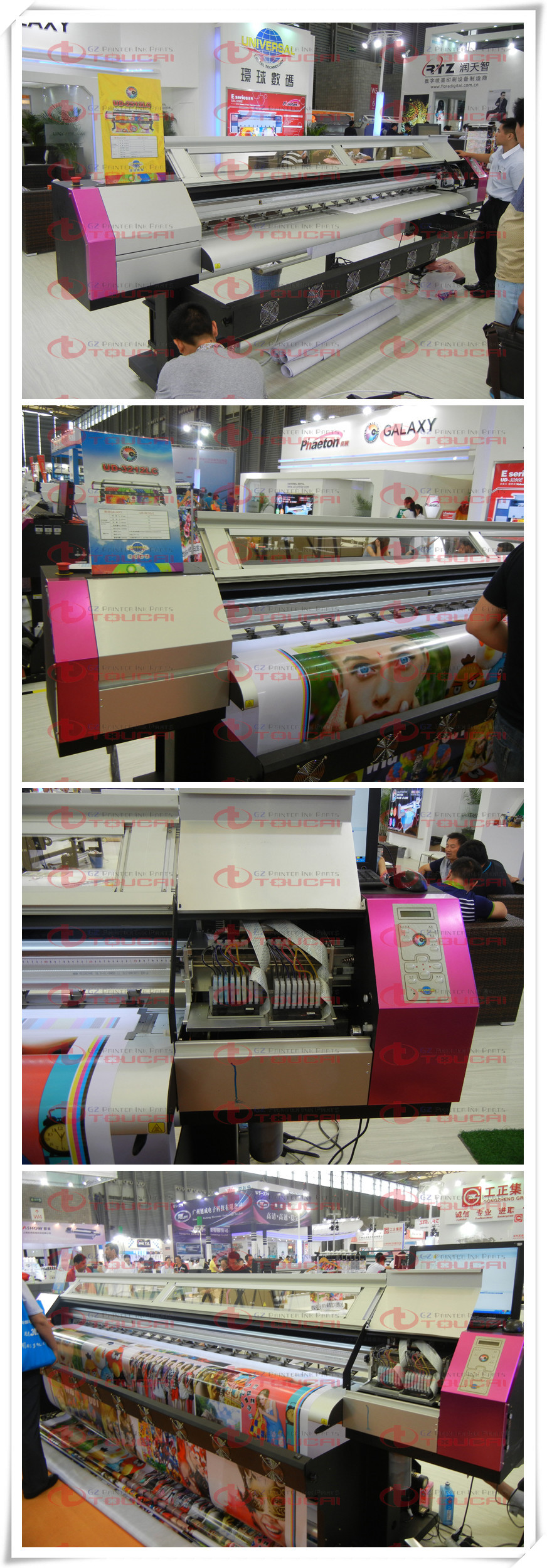 New model ! 3200mm double dx5 print heads UD3212LD eco solvent printer