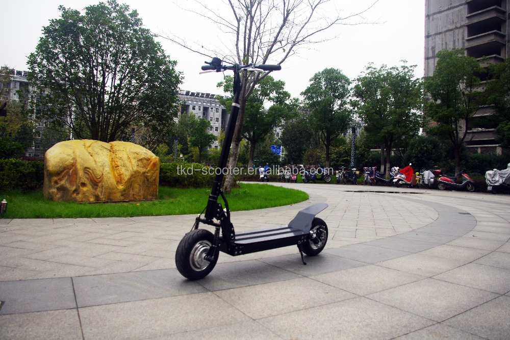 2017 nanjing 2000W front and rear motors CE foldable mini electric scooter