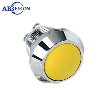 16mm momentary or latching type metal push button switch with led illuminated