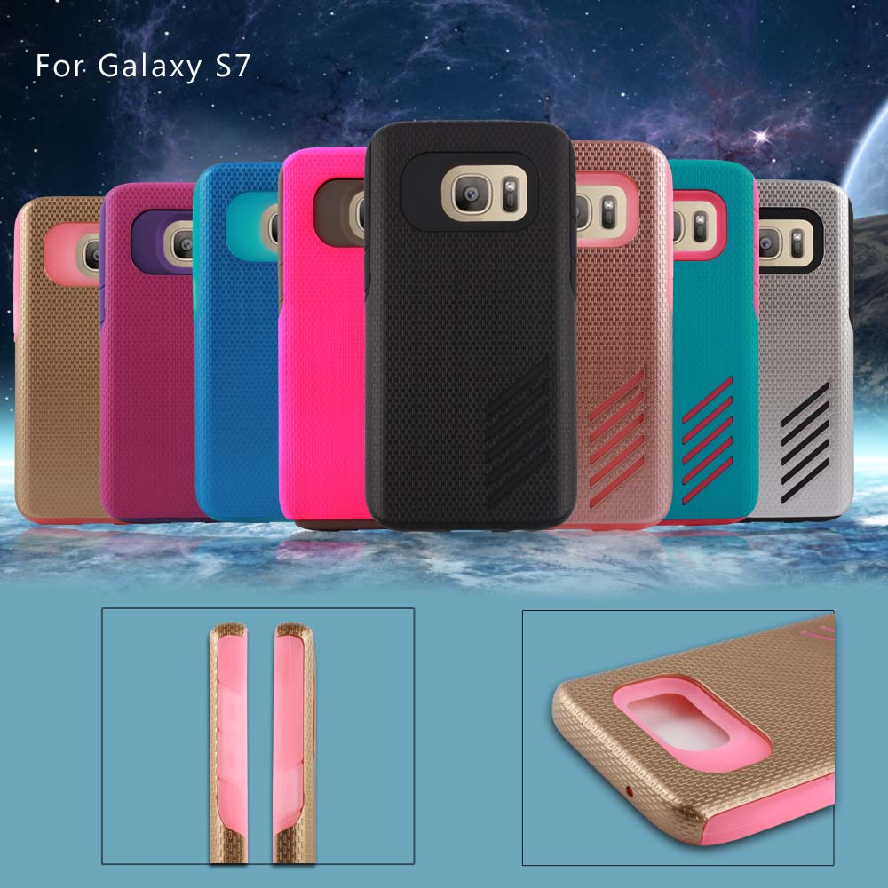 High quality PC+TPU mobile protect case for Samsung S7