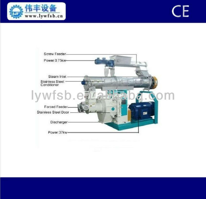 chicken feed pellet production line, chicken feed pellet making machine