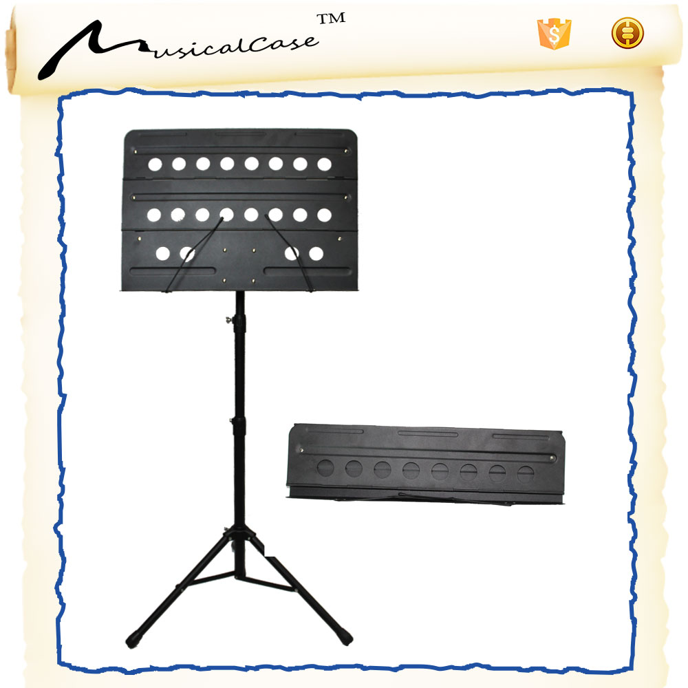 customized black lron for wooden music note stand with fashionable