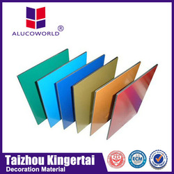 Alucoworld 4mm Cheap Prices 3mm red used for decoration aluminum composite panles