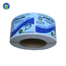 Label Printing Machine Adhesive Sticker Vinyl Food Canned Packaging Label Cheap Custom