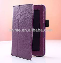 New PU Leather Case Smart Cover For 2013 All-New Kindle Fire HD 7 2nd Purple