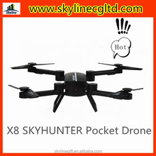 Hot selling X8 X8TW foldable mini UAV drone Quadcopter mobile control with WIFI FPV