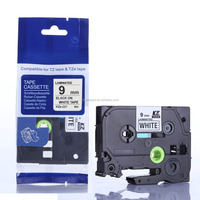 Compatible TZ-221 TZ221 TZe221 P-touch TZ tape cartridge(Black on white, 9mm*8m), Used for P-touch labeling machines