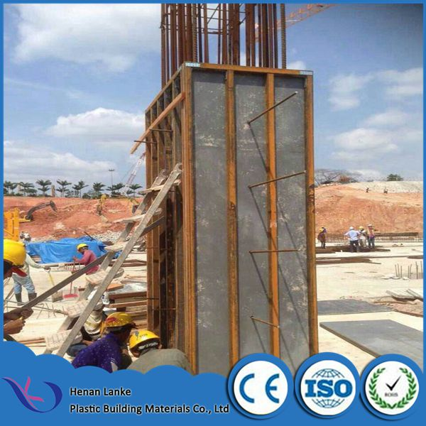 Plastic formwork for concrete / balck plastic sheet