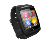 Good quality professional U18 bluetooth smart watch phone fitness with free cellphone holder