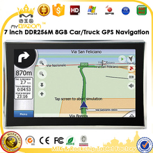 7 inch Car GPS Navigator without Bluetooth&AV IN 4GB load 3D Map RAM256M DDR 800MHZ Map Free Upgrade