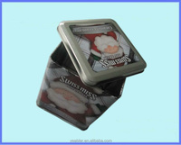 Rectangle tin box with handle latch wedding tin gift box tin case saving box