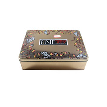 Promotional Gift Custom Logo Empty Rectangular Metal Cosmetic Tin Box