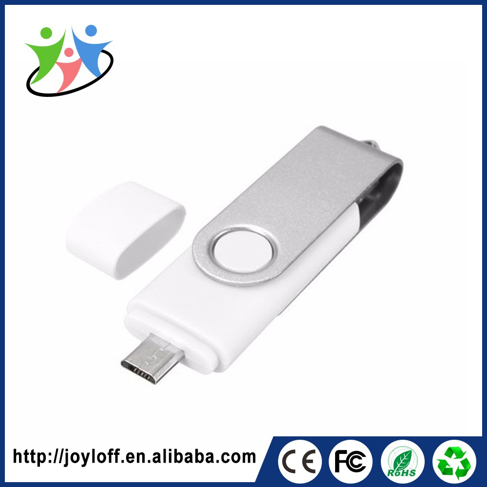 Bussiness Gift Dual Double Plug Interface Otg Mobile Phone Pc Customized Personalized Twister Usb Flash Drive