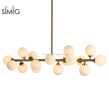 Simig modern vintage DNA golden color glass chandelier fixture pendant lights