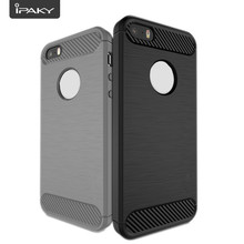 iPaky Original Brand Soft TPU Carbon Fiber Dirt-resistant Case Cover for iPhone 5/5S /SE