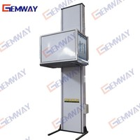 Hydraulic indoor outdoor home lift for disabled man