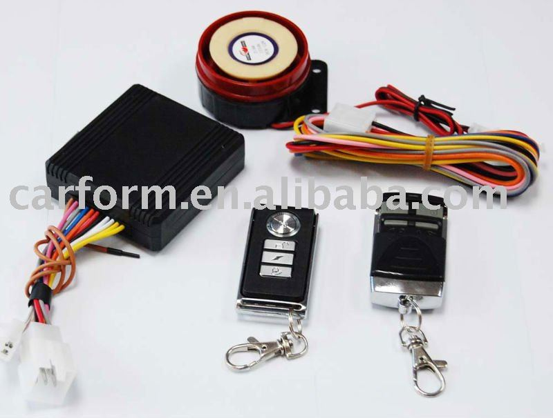 one way motorcycle anti-hijack alarm waterproof with remote engine start