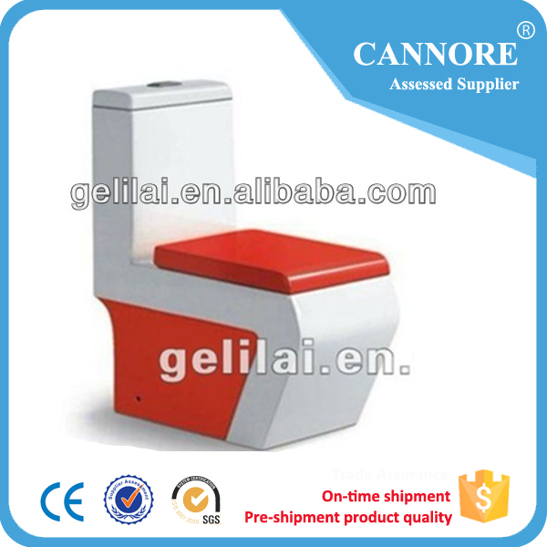Fashion sanitary ware Ceramic one piece color toilet for bathroom