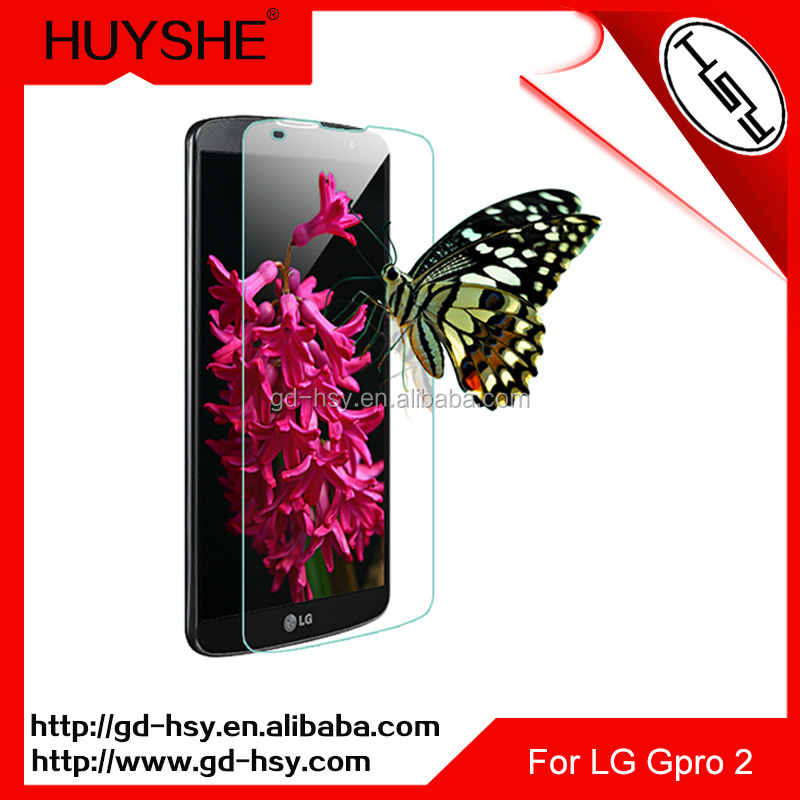 HUYSHE Fancy cell phone cases for LG GPRO 2 anti shock tempered glass screen film for LG GPRO 2.
