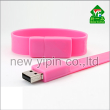 factory wholesale silicone bracelet USB flash drive cheapest USB flash disk