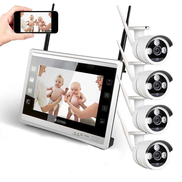 Complete CCTV Set Wireless LCD Kit Camera de Surveillance <strong>Security</strong> 4ch Camera System Set