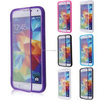 Upscale & Transparent TPU Wrap Up Cover for Samsung Galaxy S5 TPU Flip Case