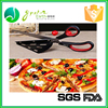 China wholesale FDA utensils stainless steel pizza scissors pizza knife rocker pizza cutter with opener