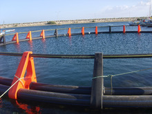 HDPE fish farming equipment used in the sea