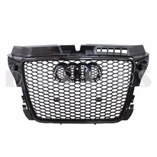RS3 Style Hex Mesh Honeycomb Gloss Black Front Grille for Audi A3 S3 8P Facelift 2008-2013