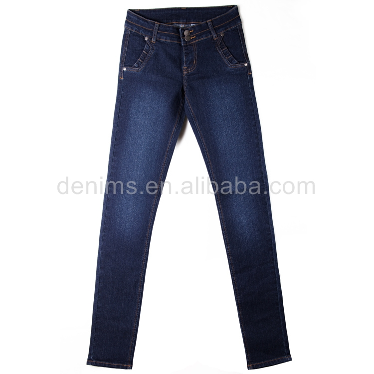 CWL-2428-B1 online shopping jeans pant new design ladies clothes