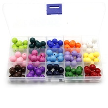 Smooth Acrylic Round Candy Color Plastic Beads For Diy Bracelet 73210