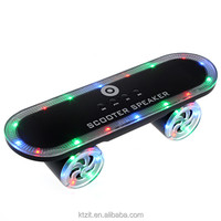 2016 New Christmas Gift Scooter Design Led Light Outdoor Bluetooth Speaker