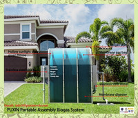 family assembled biogas plant for household garbage disposers