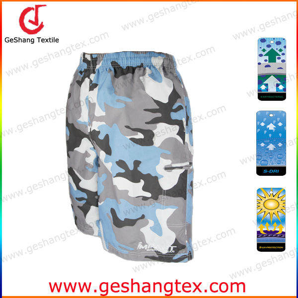 men Antibacterial polyester camo shorts