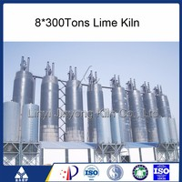 50 Tons Refractory Bricks Vertical Shaft Lime Kiln For Construction