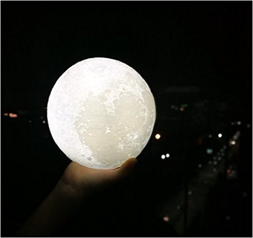 LED 3D Printing Moon Lamp with USB Charging