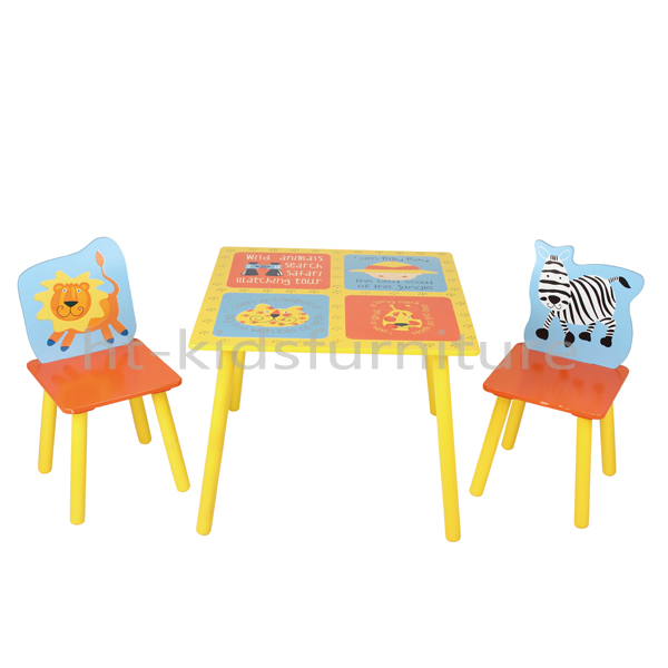 HT-NF006 60*60*(H)44cm South African Design MDF E1 And Pinewood Kids Wood Table And Chair For Wholesale, Cheap Kids Study Table