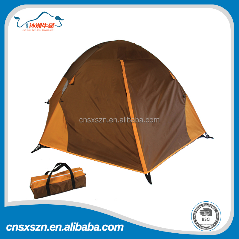 outdoor entertainment Aluminum frame double layer camping tent