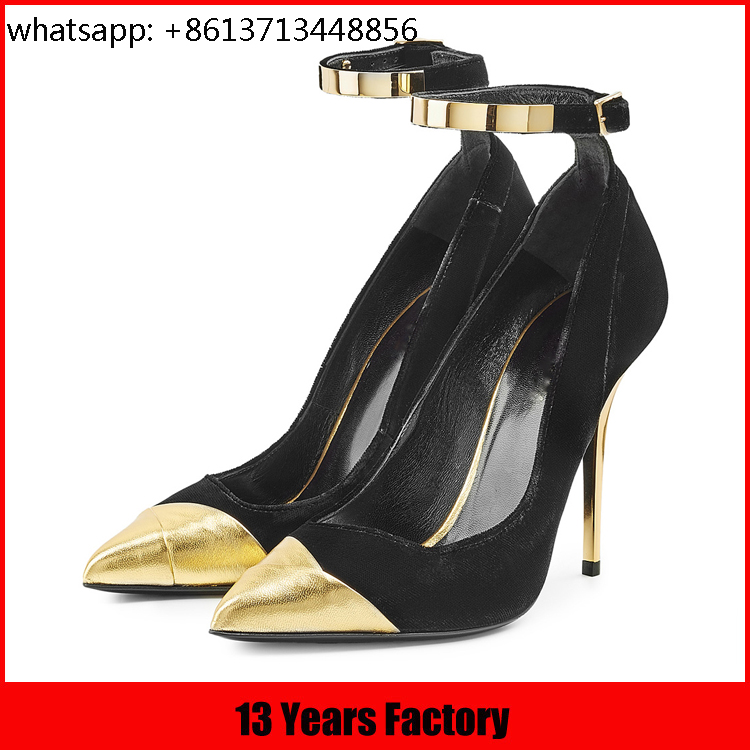 hot selling genuine leather sexy peep toe high heel platform shoes