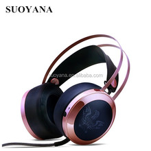 Cool!!! Noise Shining Headset New Led Computer Games Wired Headphones With Mic