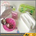 Eco-friendly different shape Transparent PVC Cosmetic Bag with Zipper
