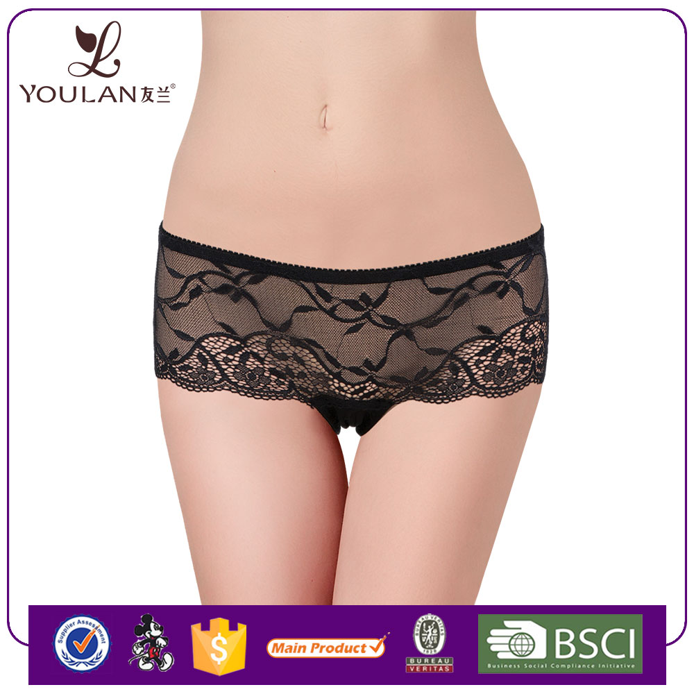 China Wholesale Pretty Pattern Elegant Transparent Lace Mesh Pictures Of Women In Lace Underwear