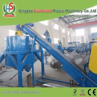 My test Best price waste plastic Beverage bottle crushing and washing machine