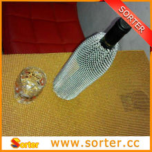 China bottle cover metallic silver mesh for event&party decoration
