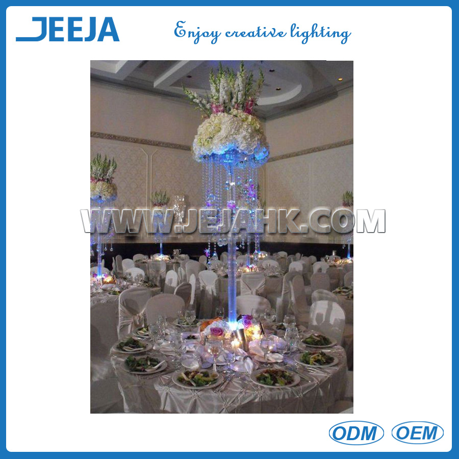 lighting restaurants tall crystal flower stand for wedding decorations columns