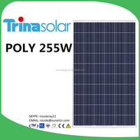 Trina solar panel 255W with original package and label TSM-255PC05A