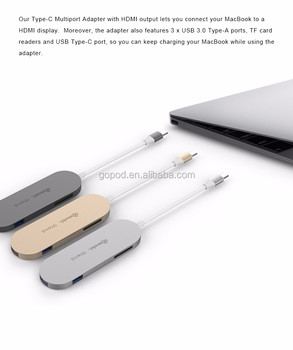 2017 6-in-1 Multiport USB-C to USB3.0 adapter GN30D